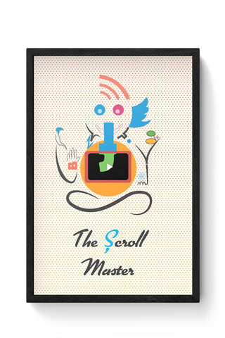 Ganesh the Scroll master  Framed Poster Online India
