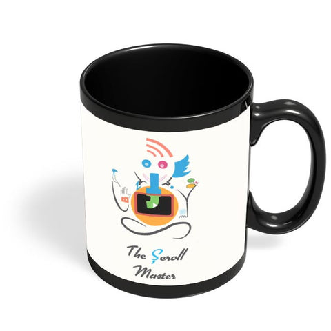 Ganesh the Scroll master  Black Coffee Mug Online India