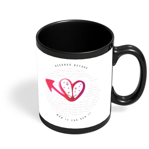 HEART TALKS !! Black Coffee Mug Online India