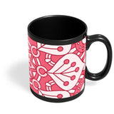 Floral Design Black Coffee Mug Online India