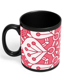 Floral Design Black Coffee Mug Online India | Designed by: Codeburnerz Technologies