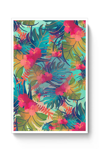 Tropical Leaves Pattern Poster Online India