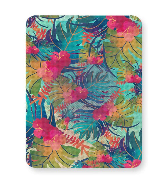 Tropical Leaves Pattern Mousepad Online India