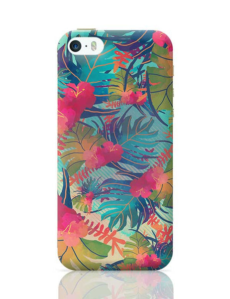 Tropical Leaves Pattern iPhone 5/5S Covers Cases Online India