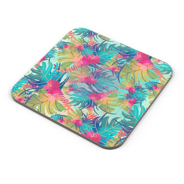 Tropical Leaves Pattern Coaster Online India