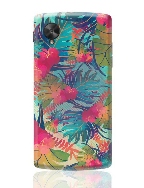 Tropical Leaves Pattern Google Nexus 5 Covers Cases Online India
