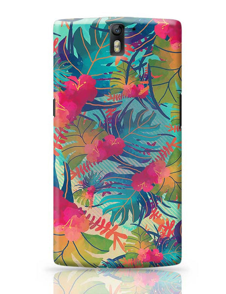 Tropical Leaves Pattern OnePlus One Covers Cases Online India