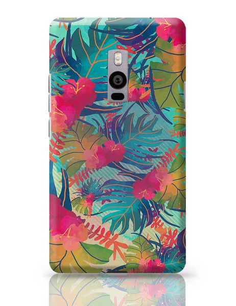 Tropical Leaves Pattern OnePlus Two Covers Cases Online India