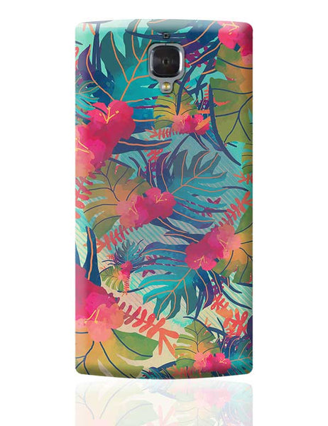 Tropical Leaves Pattern OnePlus 3 Covers Cases Online India