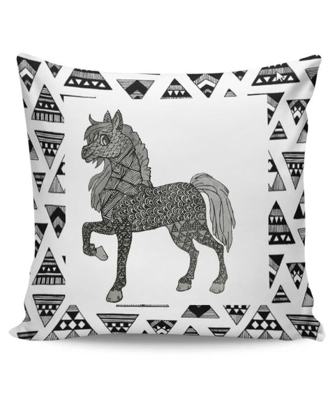 Horse_ZentangleArt Cushion Cover Online India