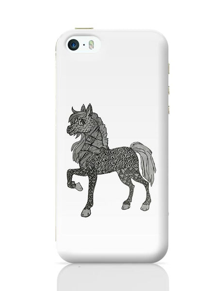 Horse_ZentangleArt iPhone 5/5S Covers Cases Online India