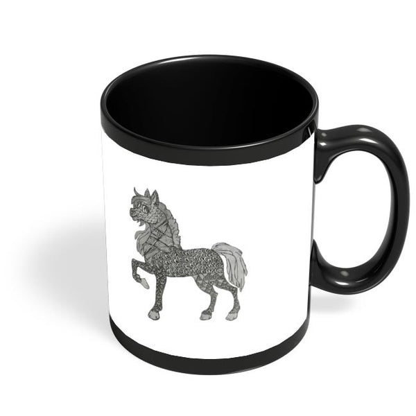 Horse_ZentangleArt Black Coffee Mug Online India