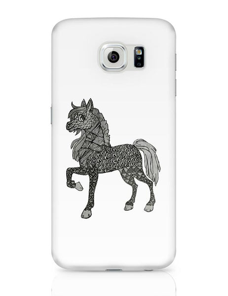 Horse_ZentangleArt Samsung Galaxy S6 Covers Cases Online India