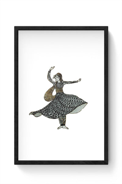 Kathak Dancer_ Zentangle Art Framed Poster Online India