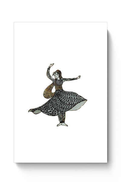 Kathak Dancer_ Zentangle Art Poster Online India