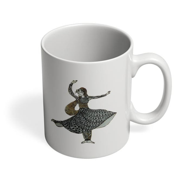 Kathak Dancer_ Zentangle Art Coffee Mug Online India
