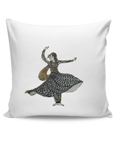 Kathak Dancer_ Zentangle Art Cushion Cover Online India