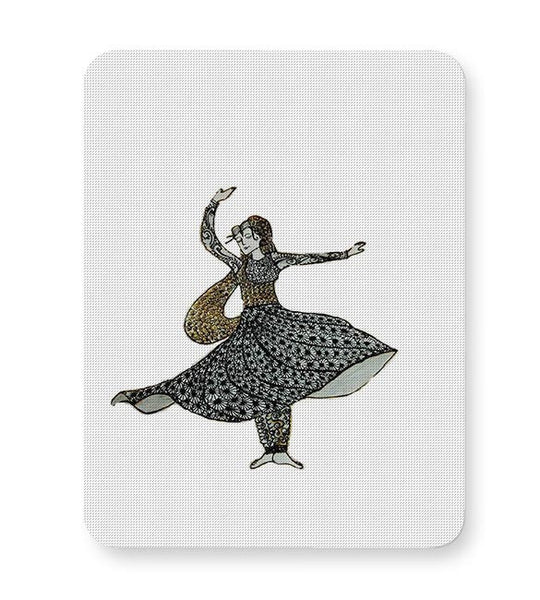 Kathak Dancer_ Zentangle Art Mousepad Online India
