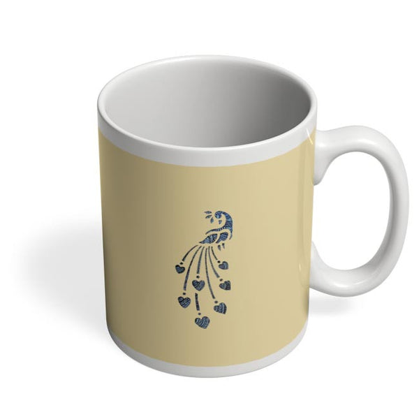 Peacock_Zentangle_Sandal Coffee Mug Online India