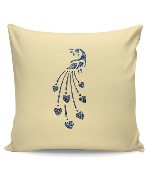 Peacock_Zentangle_Sandal Cushion Cover Online India