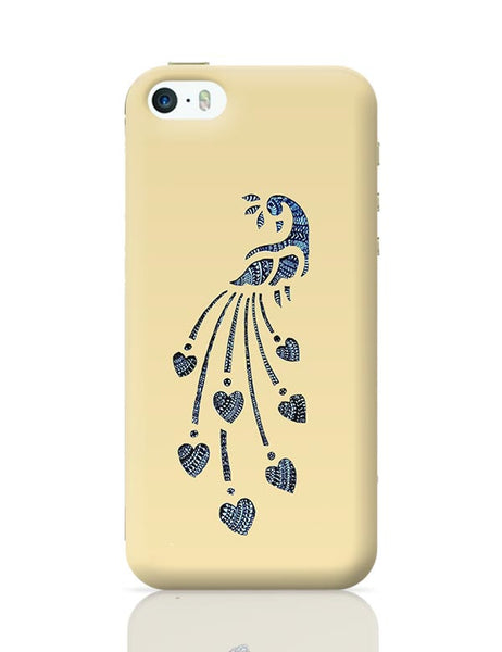 Peacock_Zentangle_Sandal iPhone 5/5S Covers Cases Online India
