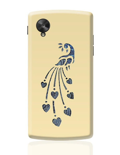Peacock_Zentangle_Sandal Google Nexus 5 Covers Cases Online India