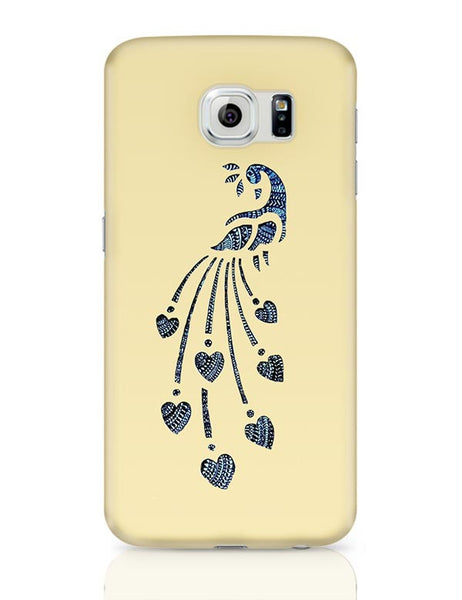 Peacock_Zentangle_Sandal Samsung Galaxy S6 Covers Cases Online India