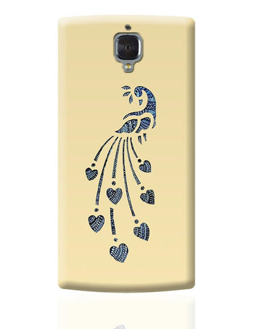 Peacock_Zentangle_Sandal OnePlus 3 Covers Cases Online India