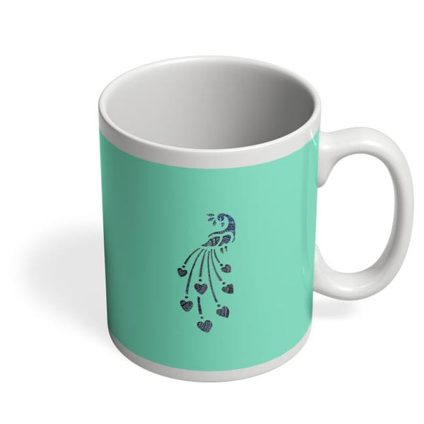Peacock_Zentangle_Turquoise Coffee Mug Online India