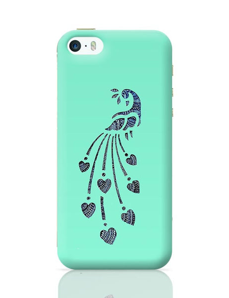 Peacock_Zentangle_Turquoise iPhone 5/5S Covers Cases Online India