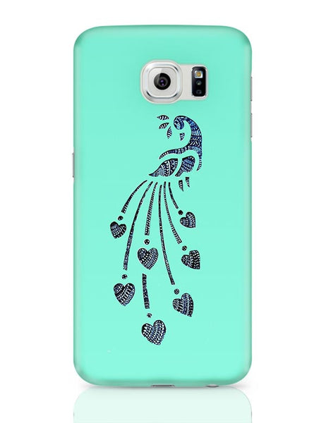 Peacock_Zentangle_Turquoise Samsung Galaxy S6 Covers Cases Online India