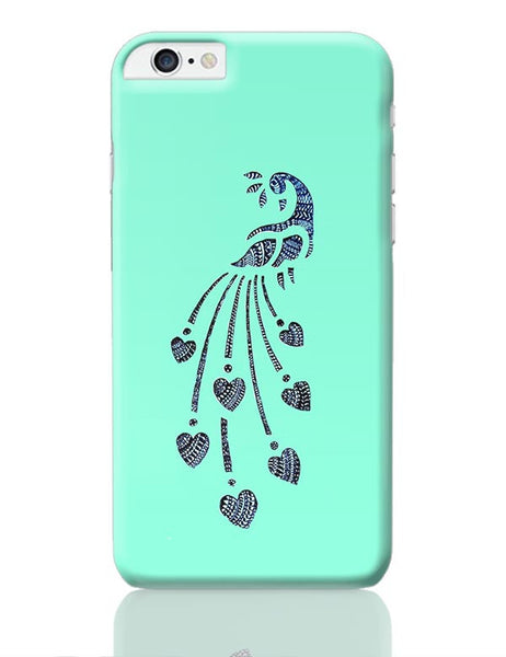 Peacock_Zentangle_Turquoise iPhone 6 Plus / 6S Plus Covers Cases Online India