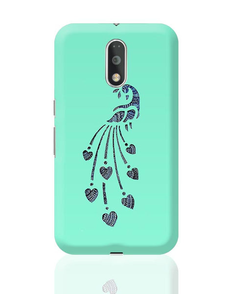 Peacock_Zentangle_Turquoise Moto G4 Plus Online India