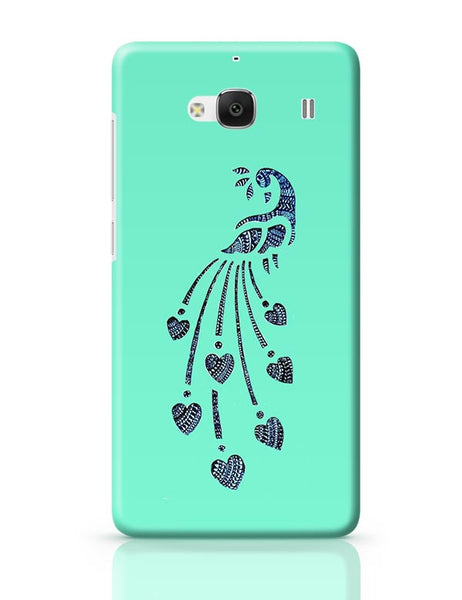 Peacock_Zentangle_Turquoise Redmi 2 / Redmi 2 Prime Covers Cases Online India
