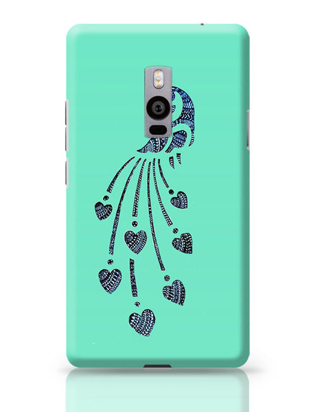 Peacock_Zentangle_Turquoise OnePlus Two Covers Cases Online India