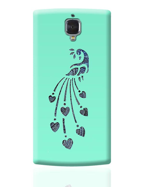 Peacock_Zentangle_Turquoise OnePlus 3 Covers Cases Online India