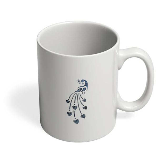 Peacock_Zentangle white Coffee Mug Online India
