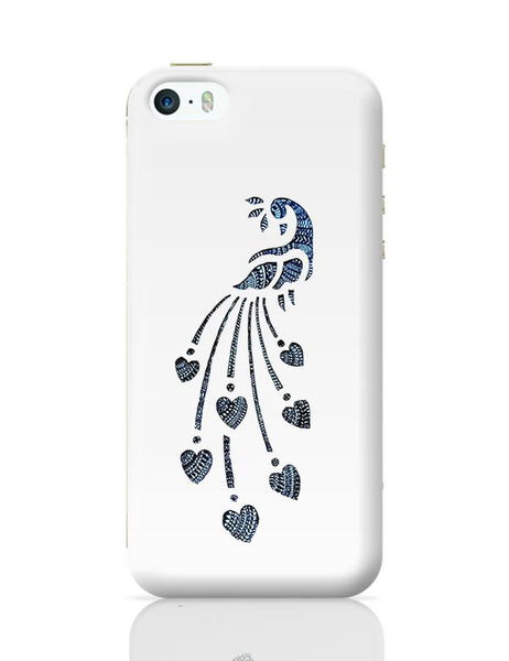 Peacock_Zentangle white iPhone 5/5S Covers Cases Online India