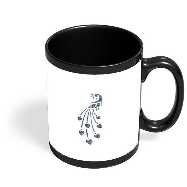 Peacock_Zentangle white Black Coffee Mug Online India