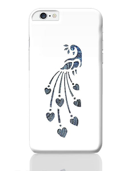 Peacock_Zentangle white iPhone 6 Plus / 6S Plus Covers Cases Online India
