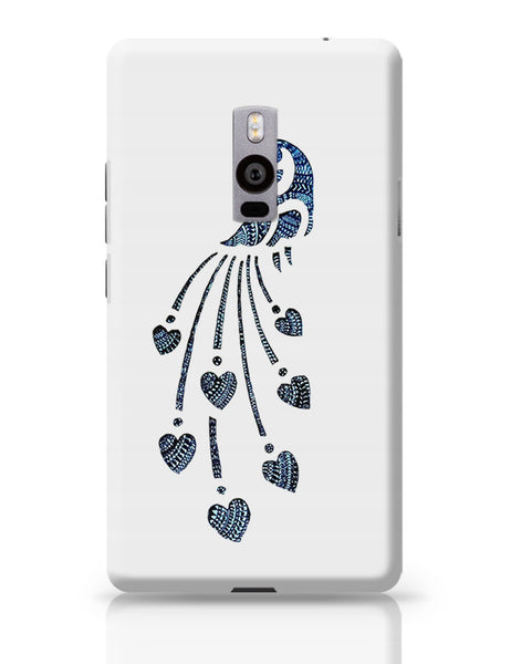 Peacock_Zentangle white OnePlus Two Covers Cases Online India