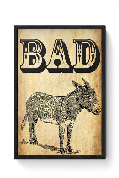 Bad Ass! Framed Poster Online India