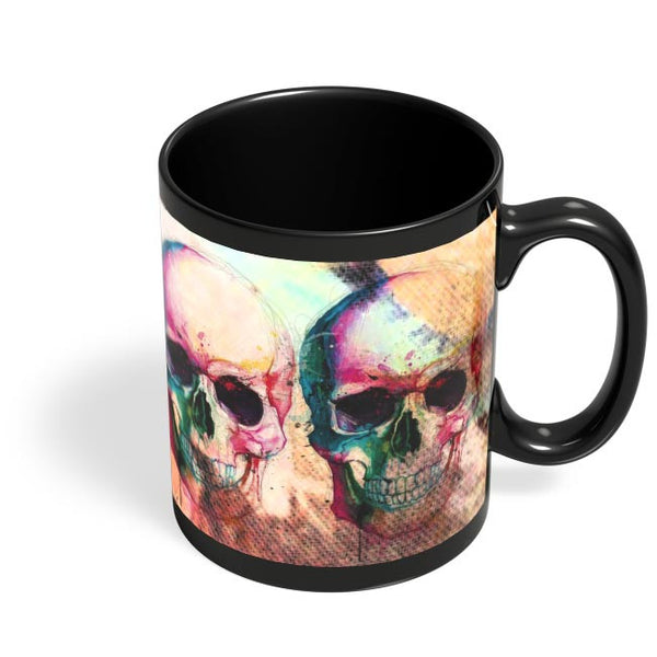 Floral Skull Black Coffee Mug Online India