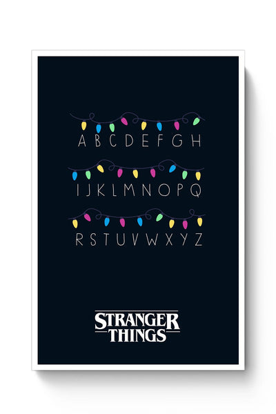 Stranger Things - Lights - Minimal Poster Online India