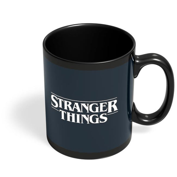 Stranger Things - Lights - Minimal Black Coffee Mug Online India