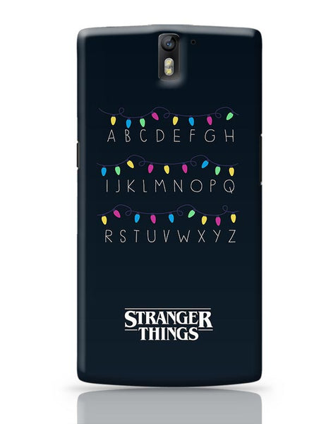 Stranger Things - Lights - Minimal OnePlus One Covers Cases Online India