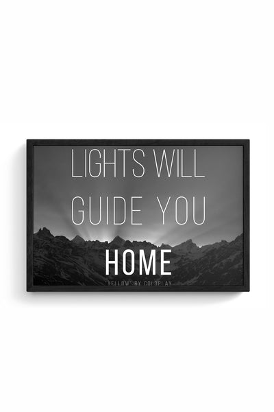 Coldplay - Lights Will Guide You Home Framed Poster Online India