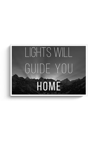 Buy Coldplay - Lights Will Guide You Home Poster