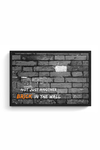 Not Another Brick in the Wall Framed Poster Online India