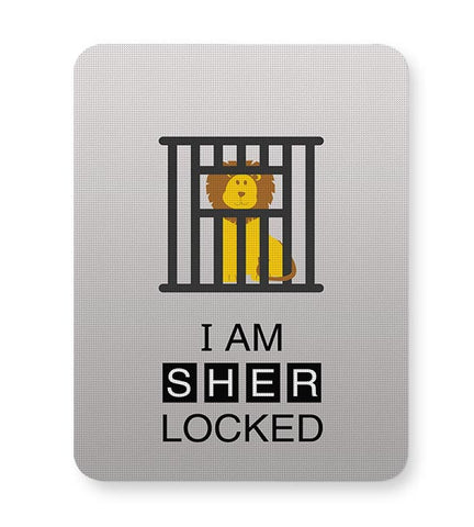 I Am Sher-locked Mousepad Online India